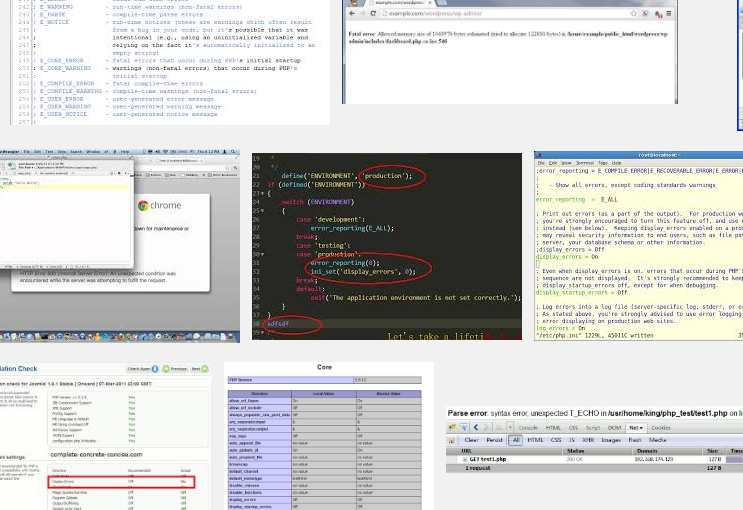 套裝程式或是php出現白頁的除錯方式